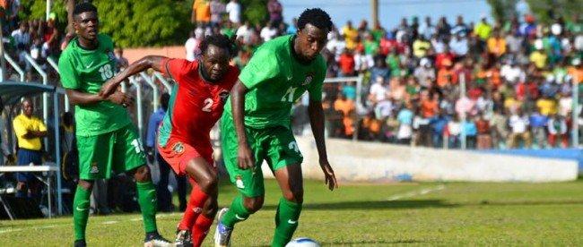 Jackson Mwanza creates a showdown at Nkololma during Zambia vs Malawi friendly
