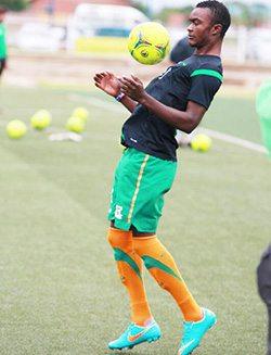 Aaron Katebe in action