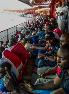 a section of fans at nkana